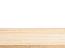 Wood table texture isolated, Clipping path Stock Photo