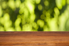 Wood table Stock Images