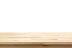 Wood table top on white background Royalty Free Stock Photo