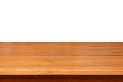 Wood table top on white background Stock Image