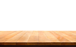 Wood table top on white background.For create product display. Or design key visual layout Royalty Free Stock Photography