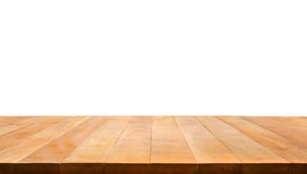 Wood table top on white background.For create product display or Royalty Free Stock Photo