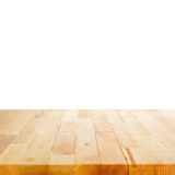 Wood table top on white background Royalty Free Stock Photos