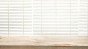 Free Wood Table Top With Blur Window Shutters Curtain Background Stock Images - 99639074