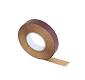 Wood tape isolated with clipping path. Wood tape isolated on white background with clipping path Stock Photo