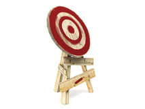 Wood target isolated on white background Royalty Free Stock Images