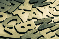 Wood Tax. Tax word in scattered wood letters Royalty Free Stock Photography