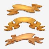 Wood tecken för tecknad film eller träband royaltyfri illustrationer