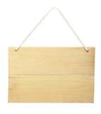 Wood tecken från ett rep Fotografering för Bildbyråer