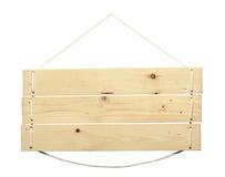 Wood tecken från ett rep Royaltyfri Foto