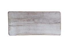 Wood tecken på vit Royaltyfri Fotografi