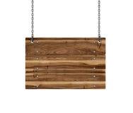 Wood tecken som hänger från Royaltyfria Foton