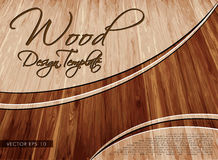 Wood Template Layout. Wooden Concept Vector Background Design Stock Photos
