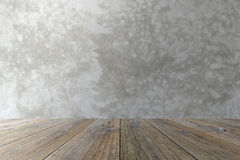 Wood terrace and Polished bare concrete Royalty Free Stock Photography
