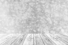 Wood terrace and polished bare concrete wall Royalty Free Stock Images