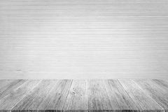 Wood terrace and Wall texture. Background surface white color Royalty Free Stock Photo