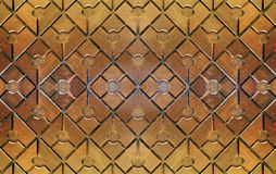 Wood textile. Decoration on wall Stock Image