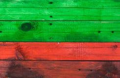 Wood textur av rött och grönt royaltyfri bild