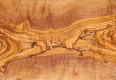 Wood textur för olivträd Arkivfoto