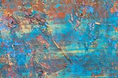 Wood textur för sjaskig blåttfärg Arkivfoto