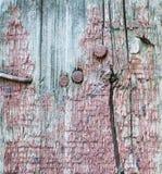 Wood textur med sprucken målarfärg Arkivbilder