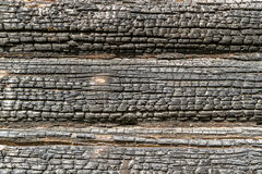 Wood textur som bränns Arkivbilder