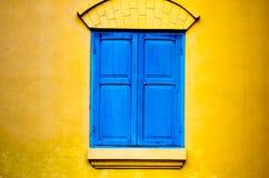 Wood texturbakgrund för fönster Arkivbilder