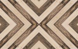 Wood texturbakgrund, X formade, den sömlösa modellen Arkivfoto