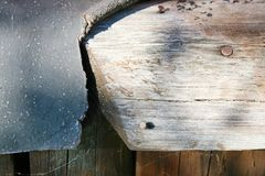 Wood texturbakgrund, träbrädekorn, randiga plankor för gammalt golv Royaltyfria Bilder