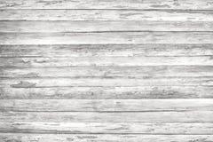 Wood texturbakgrund, vita wood plankor Grunge tvättade träväggmodellen Royaltyfri Fotografi