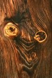 Wood texture. With abstract face royalty free stock photos