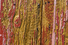 Wood Texture. Close-up of old red barn wood with paint wearing off Royalty Free Stock Images