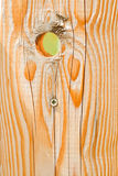 Wood texture. A closeup of a wooden door whit a hole in it -  wood texture Stock Photography