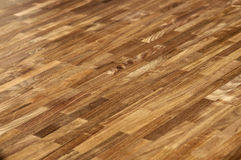 Wood texture - american walnut parquet floor Royalty Free Stock Photography