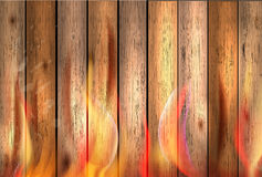 Wood texture background in fire. Illustration Stock Photo