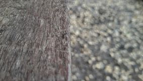 Wood texture and background. Half wood and sand background Stock Image