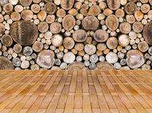 Wood texture background. Have many logs that cuted from big tree and small tree Stock Photo