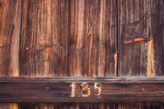 Wood Texture. Background with number Royalty Free Stock Images