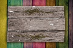 Wood texture. background old panels color Stock Photography