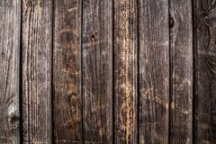 Wood texture. background old panels. Orange-brown boards Stock Photos