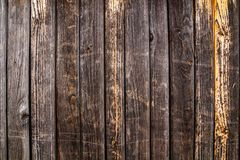 Wood texture. background old panels. Orange-brown boards Stock Photography
