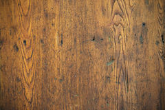 Old Scratched Oak Table Top Royalty Free Stock Photo