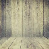Wood texture background. old wood wall and floor perspective for Royalty Free Stock Images