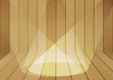 Wood texture background with spotlight Stock Photography
