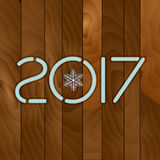 2017. Wood texture background. Stock Images