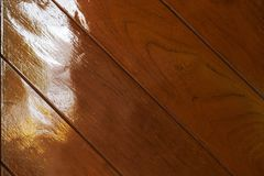 Wood texture backgrounds, seamless oak wood floor. Wood texture backgrounds, seamless oak wood Reflection on the ground stock photography