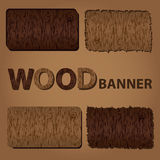 Wood texture banners eps10. Four wood texture banners eps10 Stock Illustration