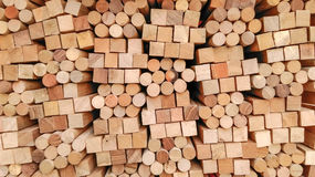 Wood Texture -in block square and circle Background stock photography