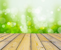 Wood texture and bokeh background Royalty Free Stock Images