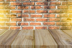 Wood texture and brick Royalty Free Stock Images